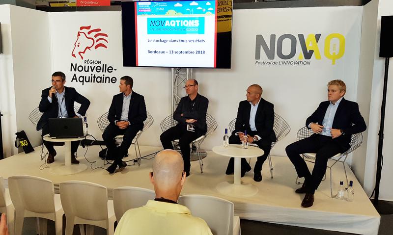 Cedric Loubiat à Novaq2018 pour Neogy de groupe Startec developpement