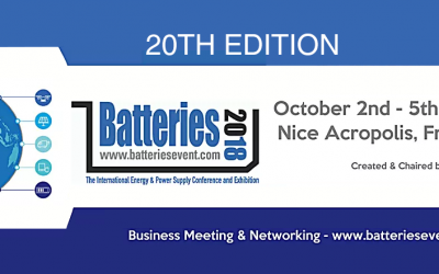 Let's meet on the next batteries 2018 in Nice, France