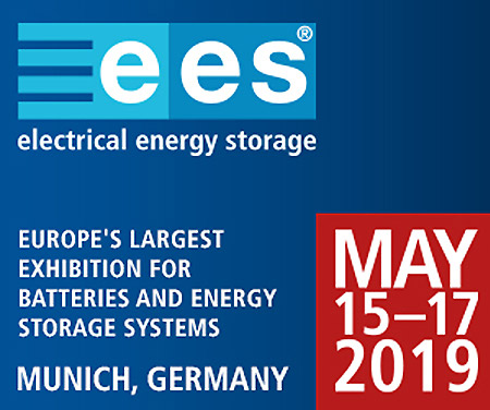 Nous exposons à EES (Electrical Energy Storage) 2019