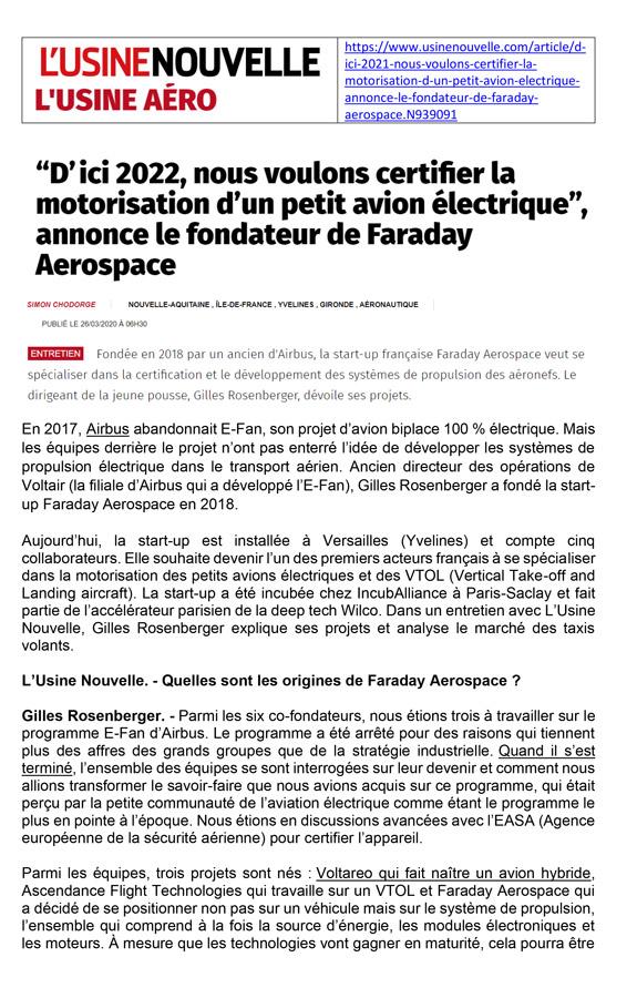 faraday neogy 2020 article sur l'usine nouvelle