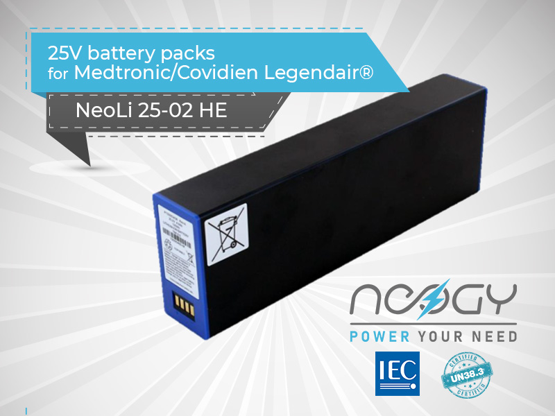 Battery packs available for the Medtronic ventilator